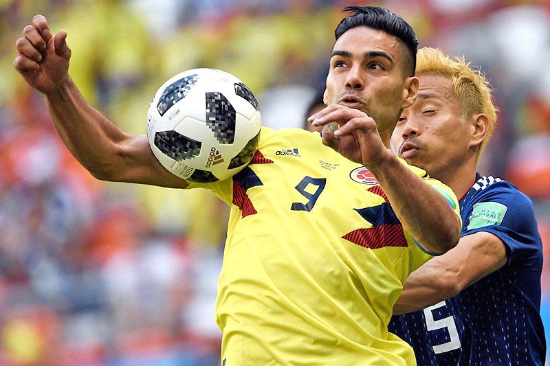 Der kolumbianische Stürmer Falcao im Spiel gegen Japan