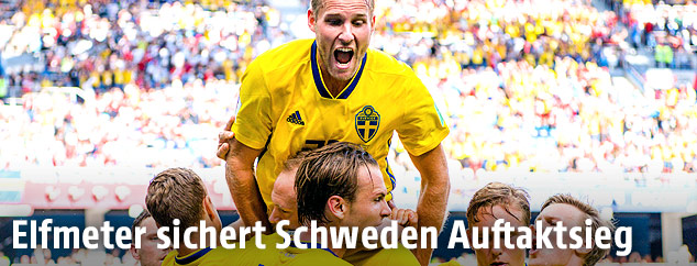 Jubel des schwedischen Teams