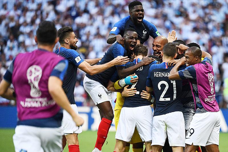 Franzosen jubeln