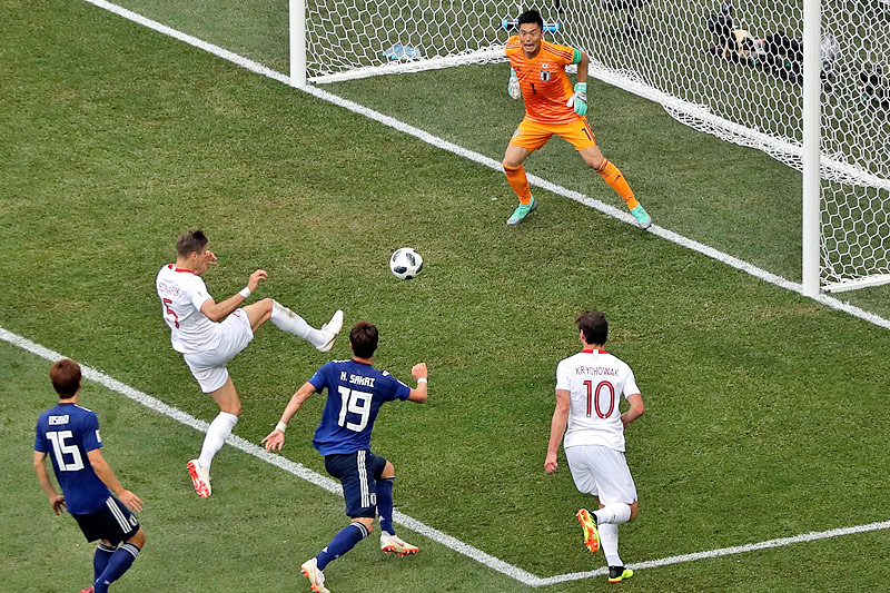 Tor von Jan Bednarek (Polen) gegen Japan