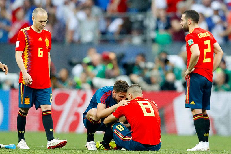Enttäuschung bei Spanien