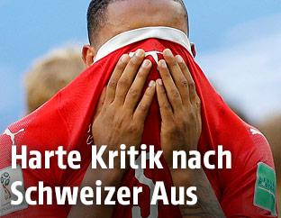 Der Schweizer Manuel Akanji ist enttäuscht