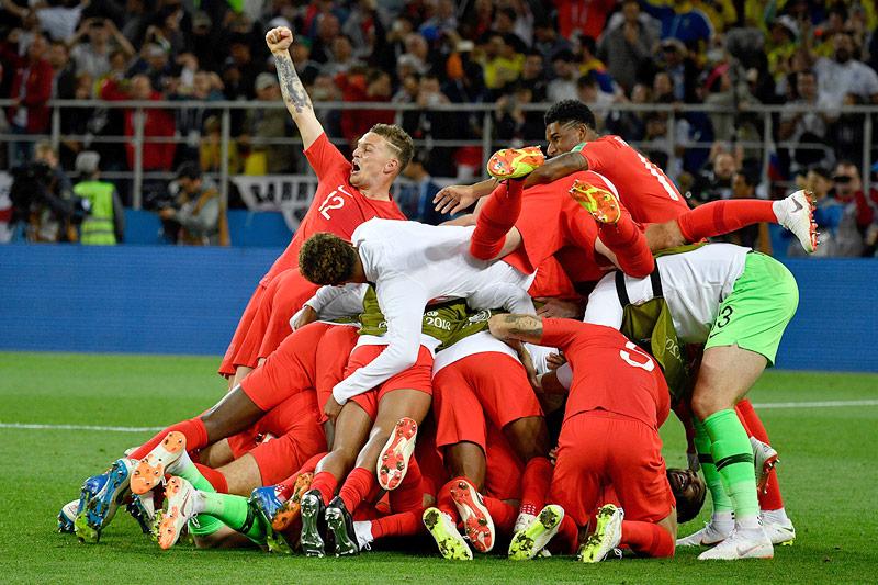 Jubel von Englands Spielern