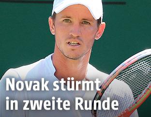 Dennis Novak (AUT) in Wimbledon