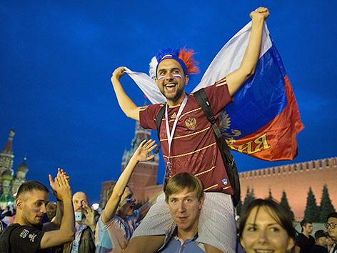 Russische Fans in Moskau