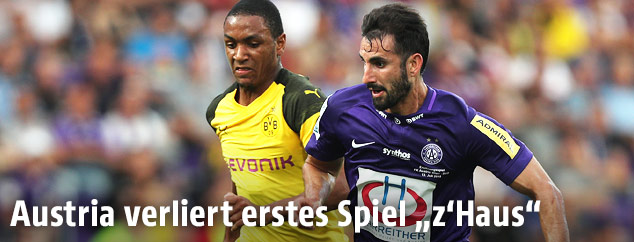 Szene zwischen Austria Wien und Borussia Dortmund
