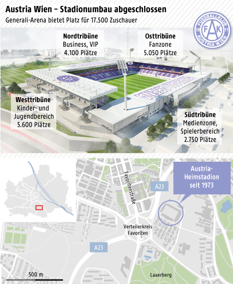 Grafik zur Generali-Arena in Wien