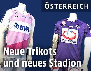 Neue Trikots des FK Austria Wien