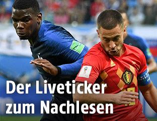 Eden Hazard gegen Paul Pogba