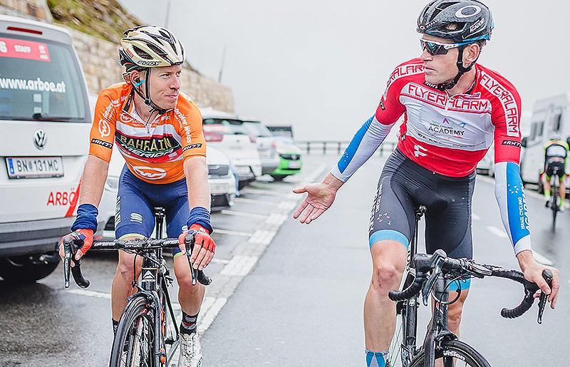 Hermann Pernsteiner (AUT, Bahrain - Merida) und Ben Hermans (BEL, Israel Cycling Academy)