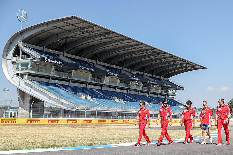 Sebastian Vettel auf dem Hockenheimring