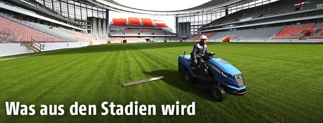 Arbeiten in einem Stadion