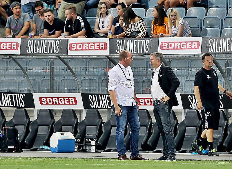 Sturm-Sportdirektor Günter Kreissl und Sturm-Präsident Christian Jauk