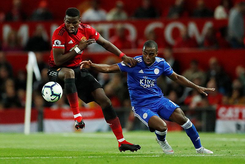 Paul Pogba (ManUnited) gegen Ricardo Pereira (Leicester)