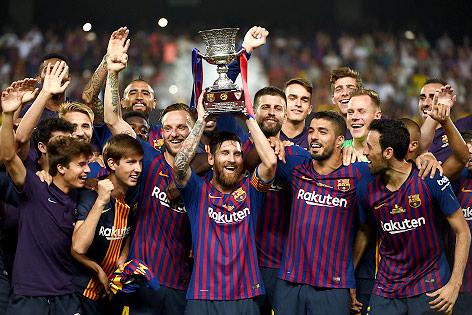 Spieler von Barcelona jubeln
