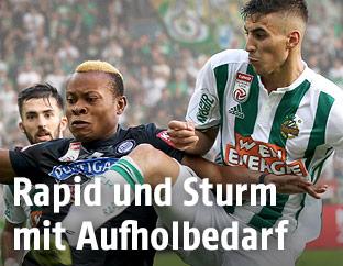 Mert Müldür (Rapid) gegen Emeka Friday Eze (Sturm)